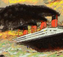 RMS Titanic in the Style of the Masters Sticker