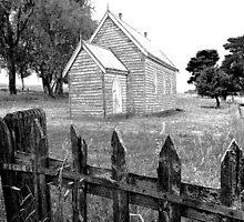 Country Church B&W Sketch by George Petrovsky