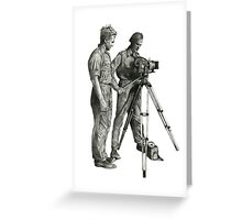 Travel and adventure with a camera. Greeting Card