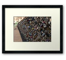Love Locks of Paris Framed Print