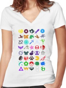 Super Smash Women's Fitted V-Neck T-Shirt