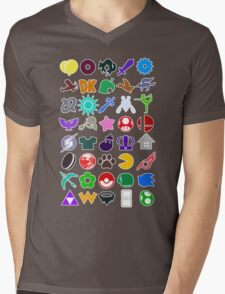 Super Smash Mens V-Neck T-Shirt