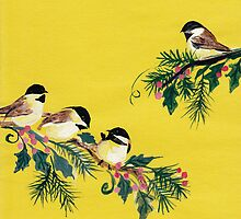 Chickadees from Amphai by Baina Masquelier
