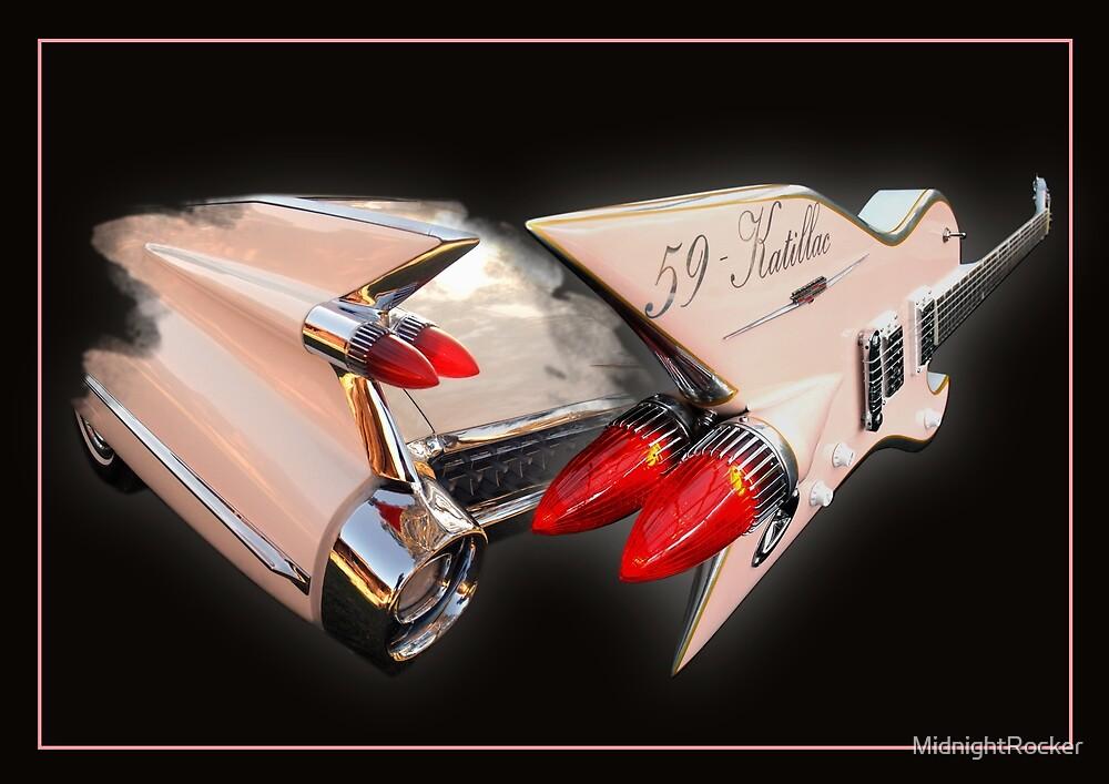 Ali Kat Hand made 1959 Cadillac Guitar by MidnightRocker