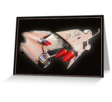Ali Kat Hand made 1959 Cadillac Guitar Greeting Card