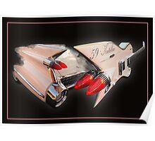 Ali Kat Hand made 1959 Cadillac Guitar Poster