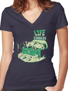 Life Evaders Women's Fitted V-Neck T-Shirt