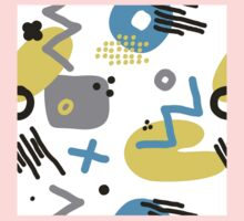 Modern hand draw colorful abstract seamless pattern  Kids Clothes
