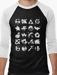 Grunge Smash Men's Baseball ¾ T-Shirt
