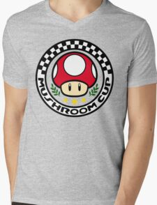 Mushroom Cup Mens V-Neck T-Shirt