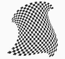 Random Checkered pattern Kids Tee