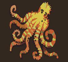 Orange Octopus by wlartdesigns