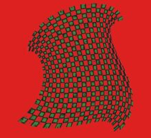 Random Checkered Pattern - GREEN Baby Tee