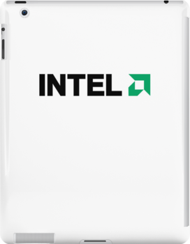 INTEL AMD logo by Skroll