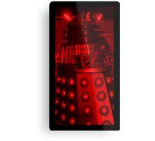 Red Dalek Metal Print
