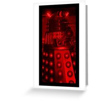 Red Dalek Greeting Card