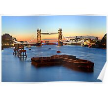 Tower Bridge at sunrise Poster