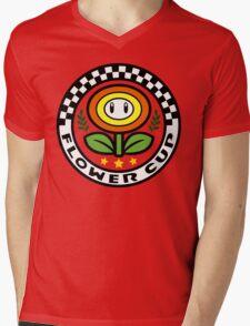 Flower Cup Mens V-Neck T-Shirt