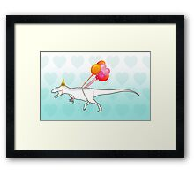 Party Daspletosaurus desperatus Framed Print