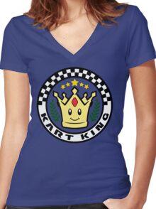 Kart King Women's Fitted V-Neck T-Shirt
