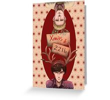 Merry Xmas from 221b Greeting Card