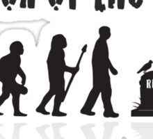 Evolution Of the Zombie Funny T Shirt Sticker