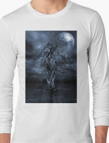 The Tree of Sawols Cyanotype Long Sleeve T-Shirt