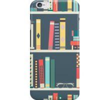 SMART PATTERN BOOKS ON SHELF iPhone Case/Skin