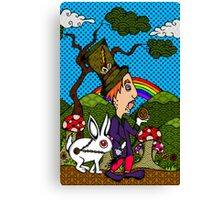 Mad Hatter & Rabbit Canvas Print