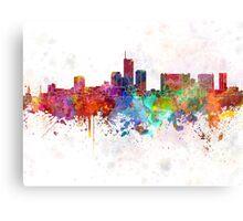 Essen skyline in watercolor background Canvas Print
