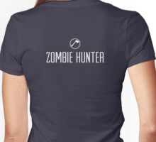 Zombie Hunter Women's Fitted V-Neck T-Shirt