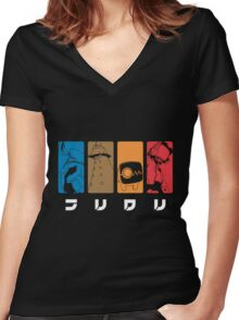 FLCL Women's Fitted V-Neck T-Shirt