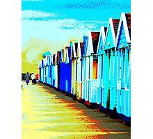 Southwold Beach Hut Ladies Photographic Print