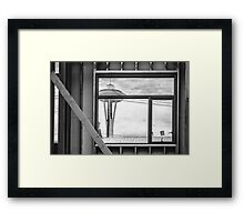 Needle Window Framed Print