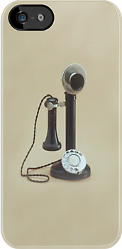 Candlestick Telephone iPhone Case by Catherine Hamilton-Veal  ©