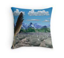 Silky Mountains Throw Pillow