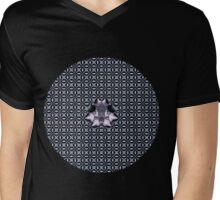 Purple Web Mens V-Neck T-Shirt