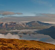Derwent Water Panoramic from Maiden Moor, Lake District by JMChown