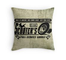 Scooter's Workshop v2 Throw Pillow