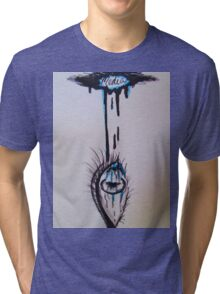 Media Influencing Perception Eye Tri-blend T-Shirt
