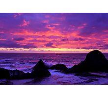 Pink Sunset on the Oregon Coast Photographic Print