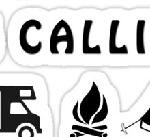 THE CAMPSITE IS CALLING AND I MUST GO Sticker