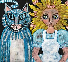 Alice and the Cheshire Cat by ChezMarie