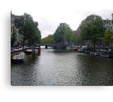 Canal of Serenity Canvas Print