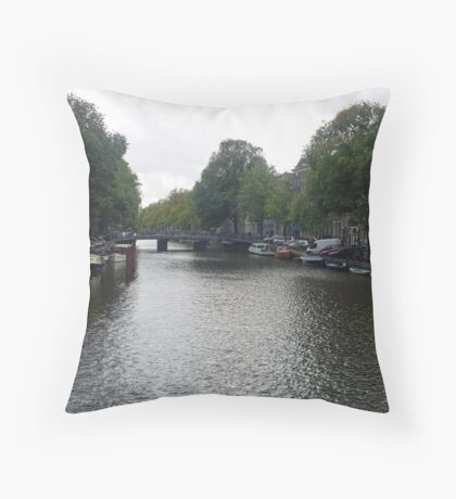 Canal of Serenity Throw Pillow