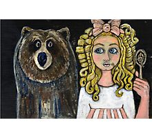 Goldilocks and The Baby Bear Photographic Print