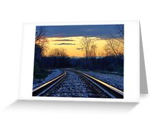 Light on the Rails Greeting Card