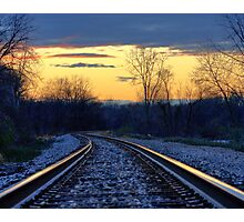 Light on the Rails Photographic Print