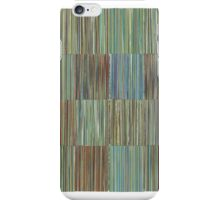 LINEAR 16 Panels Gold Blue iPhone Case/Skin