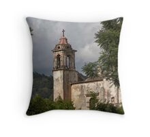 Tepoztlan church Throw Pillow